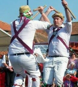 This is a photo showing Morris Dancers